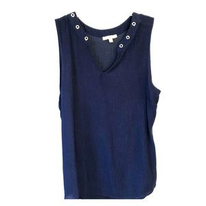 Tank with grommet detailing by Skies are Blue